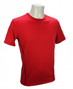 T-shirt col rond manches courtes homme - rouge