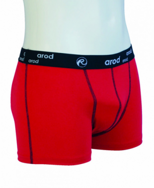 Boxer  homme - rouge